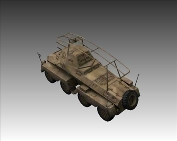 ww2 german sd.kfz.232 recon 3d model 3ds max x lwo ma mb obj 103997
