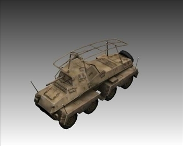ww2 german sd.kfz.232 recon 3d model 3ds max x lwo ma mb obj 103998