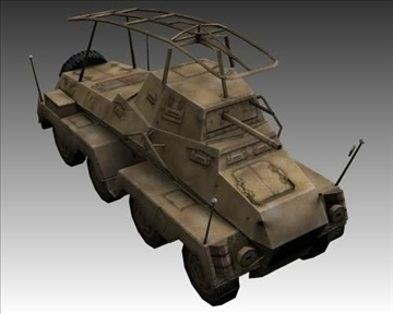 ww2 german sd.kfz.232 recon 3d model 3ds max x lwo ma mb obj 103999