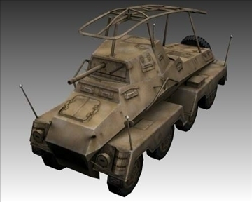 ww2 german sd.kfz.232 recon 3d model 3ds max x lwo ma mb obj 104000