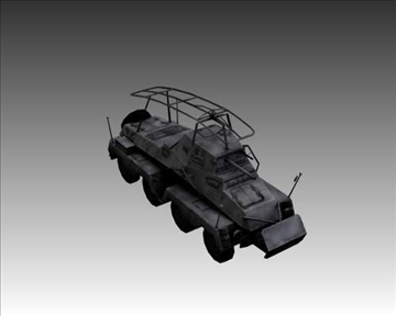 ww2 german sd.kfz.232 recon 3d model 3ds max x lwo ma mb obj 104003