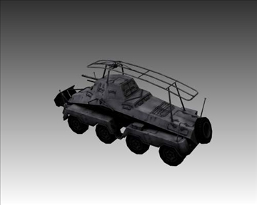ww2 german sd.kfz.232 recon 3d model 3ds max x lwo ma mb obj 104004