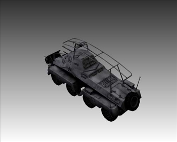 ww2 german sd.kfz.232 recon 3d model 3ds max x lwo ma mb obj 104005