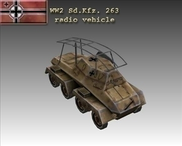 ww2 german sd.kfz. 263 radio vehicle 3d model 3ds max x lwo ma mb obj 104006