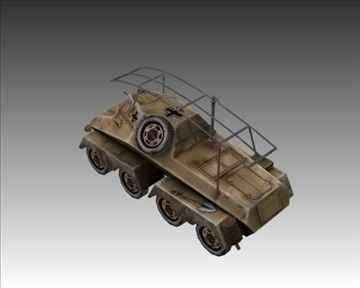 ww2 german sd.kfz. 263 radio vehicle 3d model 3ds max x lwo ma mb obj 104007