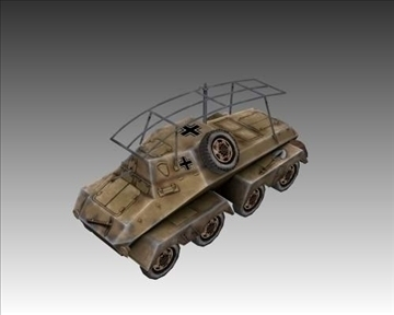 ww2 german sd.kfz. 263 radio vehicle 3d model 3ds max x lwo ma mb obj 104008