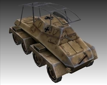 ww2 german sd.kfz. 263 radio vehicle 3d model 3ds max x lwo ma mb obj 104009