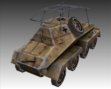 ww2 german sd.kfz. 263 radio vehicle 3d model 3ds max x lwo ma mb obj 104010