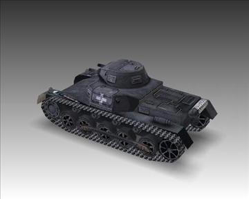 ww2 german sdkfz 101 b 3d model 3ds max x lwo ma mb obj 103870
