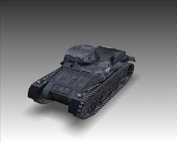 ww2 german sdkfz 101 b 3d model 3ds max x lwo ma mb obj 103871