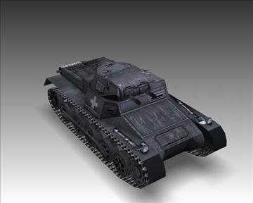 ww2 german sdkfz 101 b 3d model 3ds max x lwo ma mb obj 103872