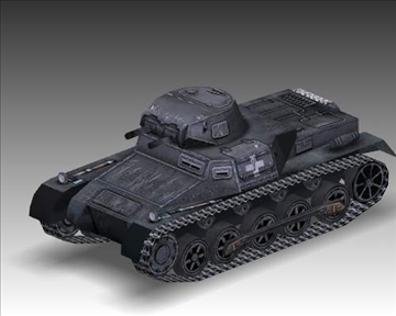 ww2 njemački sdkfz 101 b 3d model 3ds max x lwo ma mb obj 103873