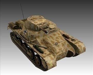 ww2 german sdkfz 101 flammpanzer 3d model 3ds max x lwo ma mb obj 103866