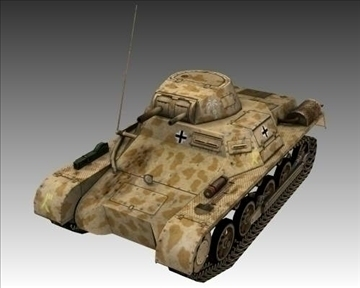 ww2 german sdkfz 101 flammpanzer 3d model 3ds max x lwo ma mb obj 103867