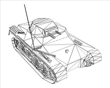 ww2 german sdkfz 101 flammpanzer 3d model 3ds max x lwo ma mb obj 103868