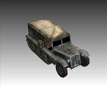 ww2 german sdkfz 111 half track 3d model 3ds max x lwo ma mb obj 103970