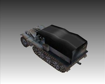 ww2 german sdkfz 111 half track 3d model 3ds max x lwo ma mb obj 103971
