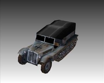 ww2 german sdkfz 111 half track 3d model 3ds max x lwo ma mb obj 103972
