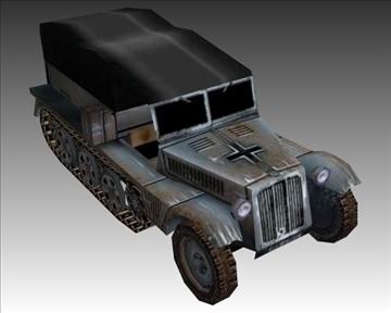 ww2 german sdkfz 111 half track 3d model 3ds max x lwo ma mb obj 103973