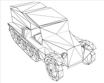ww2 german sdkfz 111 half track 3d model 3ds max x lwo ma mb obj 103974