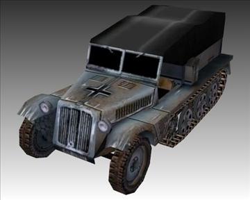 ww2 german sdkfz 111 half track 3d model 3ds max x lwo ma mb obj 103975