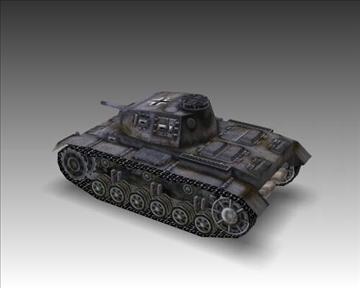 ww2 njemački sdkfz 141 ausf. f 3d model 3ds max x lwo ma mb obj 103876