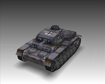 ww2 njemački sdkfz 141 ausf. f 3d model 3ds max x lwo ma mb obj 103877