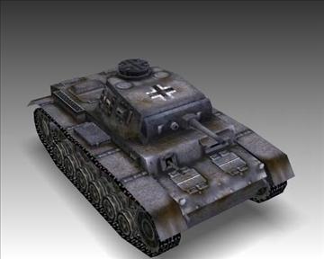 ww2 njemački sdkfz 141 ausf. f 3d model 3ds max x lwo ma mb obj 103878