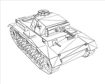ww2 njemački sdkfz 141 ausf. f 3d model 3ds max x lwo ma mb obj 103880
