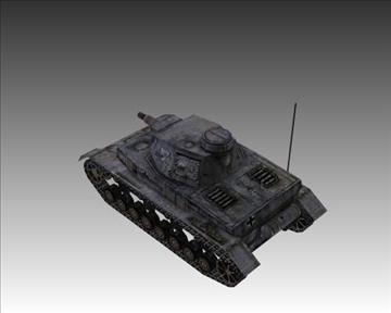 ww2 njemački sdkfz 161 ausf. d 3d model 3ds max x lwo ma mb obj 103882