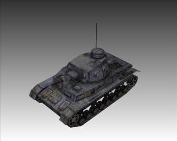 ww2 njemački sdkfz 161 ausf. d 3d model 3ds max x lwo ma mb obj 103883