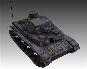 ww2 njemački sdkfz 161 ausf. d 3d model 3ds max x lwo ma mb obj 103884