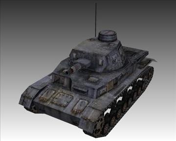 ww2 njemački sdkfz 161 ausf. d 3d model 3ds max x lwo ma mb obj 103885
