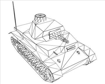 ww2 njemački sdkfz 161 ausf. d 3d model 3ds max x lwo ma mb obj 103886