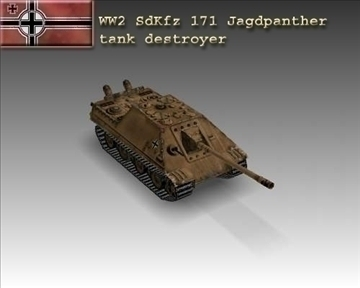ww2 german sdkfz 171 jagdpanther 3d model 3ds max x lwo ma mb obj 103887