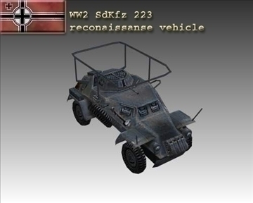 ww2 german sdkfz 223 recon vehicle 3d model 3ds max x lwo ma mb obj 103990