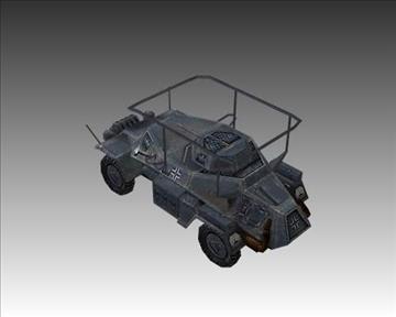 ww2 german sdkfz 223 recon vehicle 3d model 3ds max x lwo ma mb obj 103991