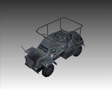 ww2 german sdkfz 223 recon vehicle 3d model 3ds max x lwo ma mb obj 103992