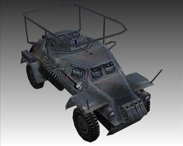 ww2 german sdkfz 223 recon vehicle 3d model 3ds max x lwo ma mb obj 103993