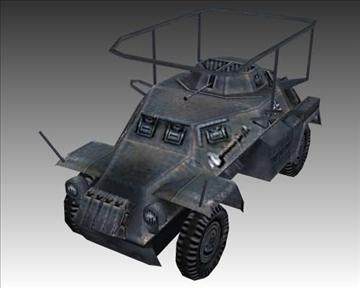 ww2 german sdkfz 223 recon vehicle 3d model 3ds max x lwo ma mb obj 103994
