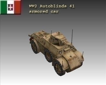 ww2 autoblinda italiane 41 3d model 3ds max x lwo ma mb obj 103929