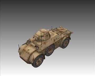 ww2 italijanski autoblinda 41 3d model 3ds max x lwo ma mb obj 103931