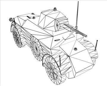 ww2 italijanski autoblinda 41 3d model 3ds max x lwo ma mb obj 103934