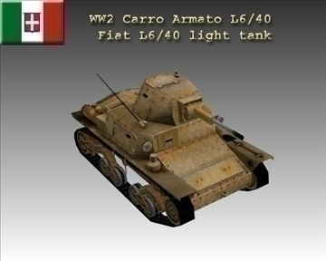 ww2 italyan carro armato l640 3d model 3ds max x lwo ma mb obj 103935