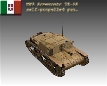 ww2 italiano semovente 75 18. 3d model 3ds max x lwo ma mb obj 103905