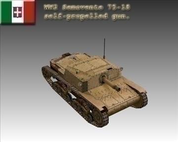 ww2 itāļu semovente 75 18. 3d modelis 3ds max x lwo ma mb obj 103905