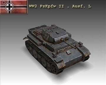 ww2 pzkpfw ii. ausf. l model 3d 3ds max x ar gyfer 100951