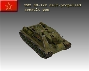 ww2 soviet su 122 3d model 3ds max x lwo ma mb obj 103911