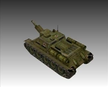 ww2 soviet su 122 3d model 3ds max x lwo ma mb obj 103912