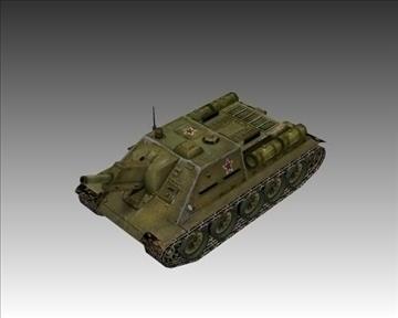 ww2 soviet su 122 3d model 3ds max x lwo ma mb obj 103913